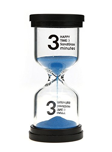 VEOLEY Safety Sand Timer 3 Minutes Tooth Brushing Timers for Kids - Colorful Sandglass Sand Clock - Blue]()