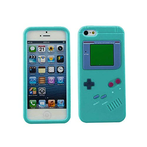 EEA 3D Silicone Rubber Nintendo Gameboy Case for iPhone 5 5S (Turquoise) LIMITED EDITION (Iphone 5 Cases Gameboy)