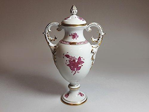 ヘレンド■アポニー ピンク 花瓶 ハンドル付きベース 蓋付 1個 インドの華 HEREND 1級品 B06X95QG7N