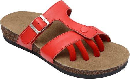 Leather Patent Slides Sandal Sedona Wellrox Red Fiery q0YgxwF