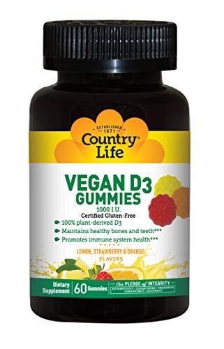 Country Life Vegan D3 Gummies 60 Gummy