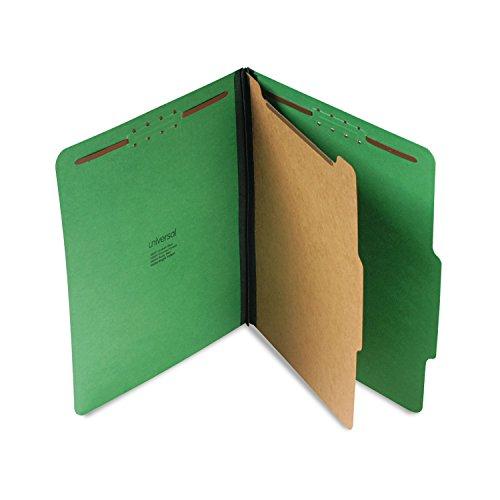 (Universal 10202 Pressboard Folder, Letter, Four-Section, Emerald Green, 10/Box)