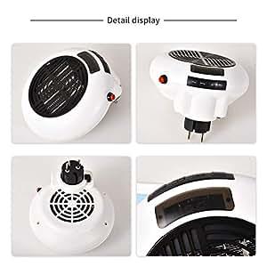 Calefactor de Aire Caliente Portatil, 900W Calentador Eléctrico Cerámico Personal PTC Bajo Consumo Termoventilador de