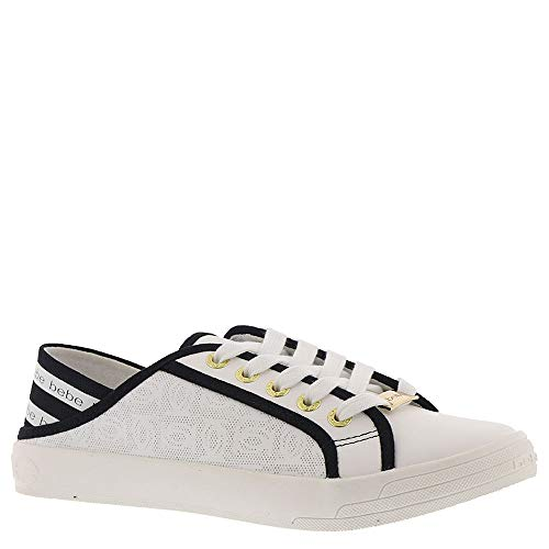 bebe Women's White Black Dacia Sneaker vw01ZWnw