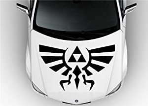 Amazoncom Hood Auto Car Vinyl Decal Stickers Zelda Hylian - Badass decals for trucks