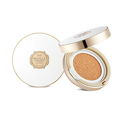 The Face Shop Miracle Finish CC Ultra Moist Cushion SPF50+ PA+++ (V203 Natural - Miracle Shop