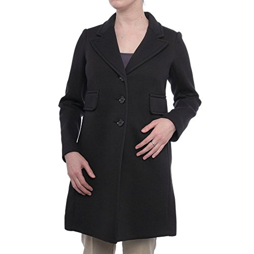 Sonia Rykiel Button Up Coat Basic Coat Black