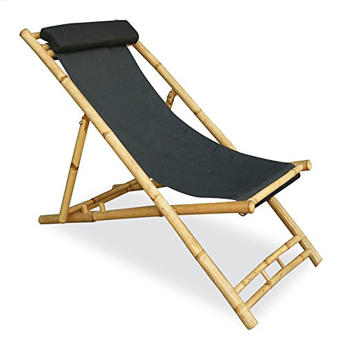 Heather Ann Creations Bamboo Folding Sling Chair with Hea...