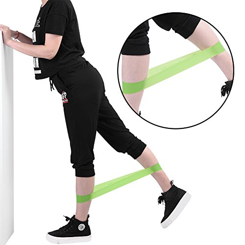 Dilwe 5pcs Resistance Exercise Bands, Unisex Multi Colors Latex Fitness Workout Yoga Loops for Stretching YogaLegs Training Physical Therapy by Dilwe (Image #5)