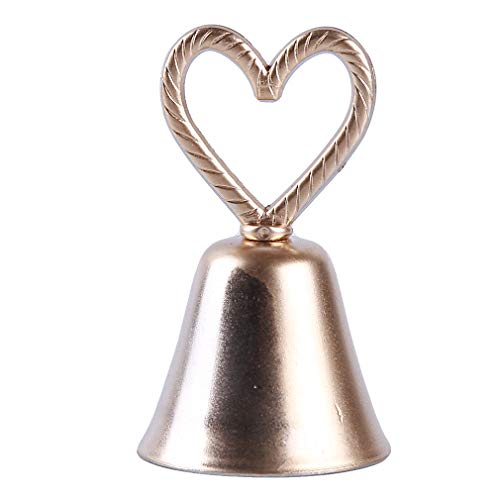 Yunzee Heart Shape Bell Small Table Decoration Seat Marriage Gift Banquet Party Wedding Rehearsal Supplies Holiday Dinner Ornament