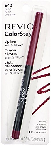 Revlon Color Stay Lip Liner with SoftFlex, Raisin [640] 1 ea (Pack of 4)