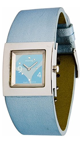 Moog Paris - Harmony - Women's Watch with blue dial, blue strap in Genuine calf leather, made in France - M41353-006