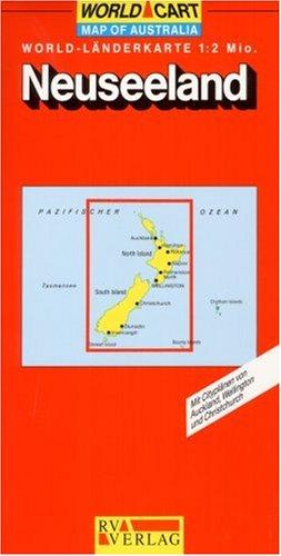 [World-Länderkarte 1:2 Mio: Mit Stadtplänen von Auckland, Wellington und Christchurch] (World-Cart) (German Edition)