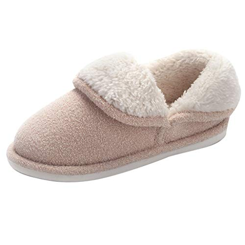 - DENER Women Winter House Slippers Moccasin,Fashion Cartoon Soft Bottom Fluffy Furry Slip on Wide Width Comfort Indoor Shoes Loafers (White, 6-6.5 M US)