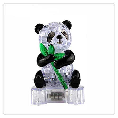 Kanzd 3D Crystal Puzzle Cute Panda Model DIY Gadget Blocks Building Educational Toy Kids Gift Party -