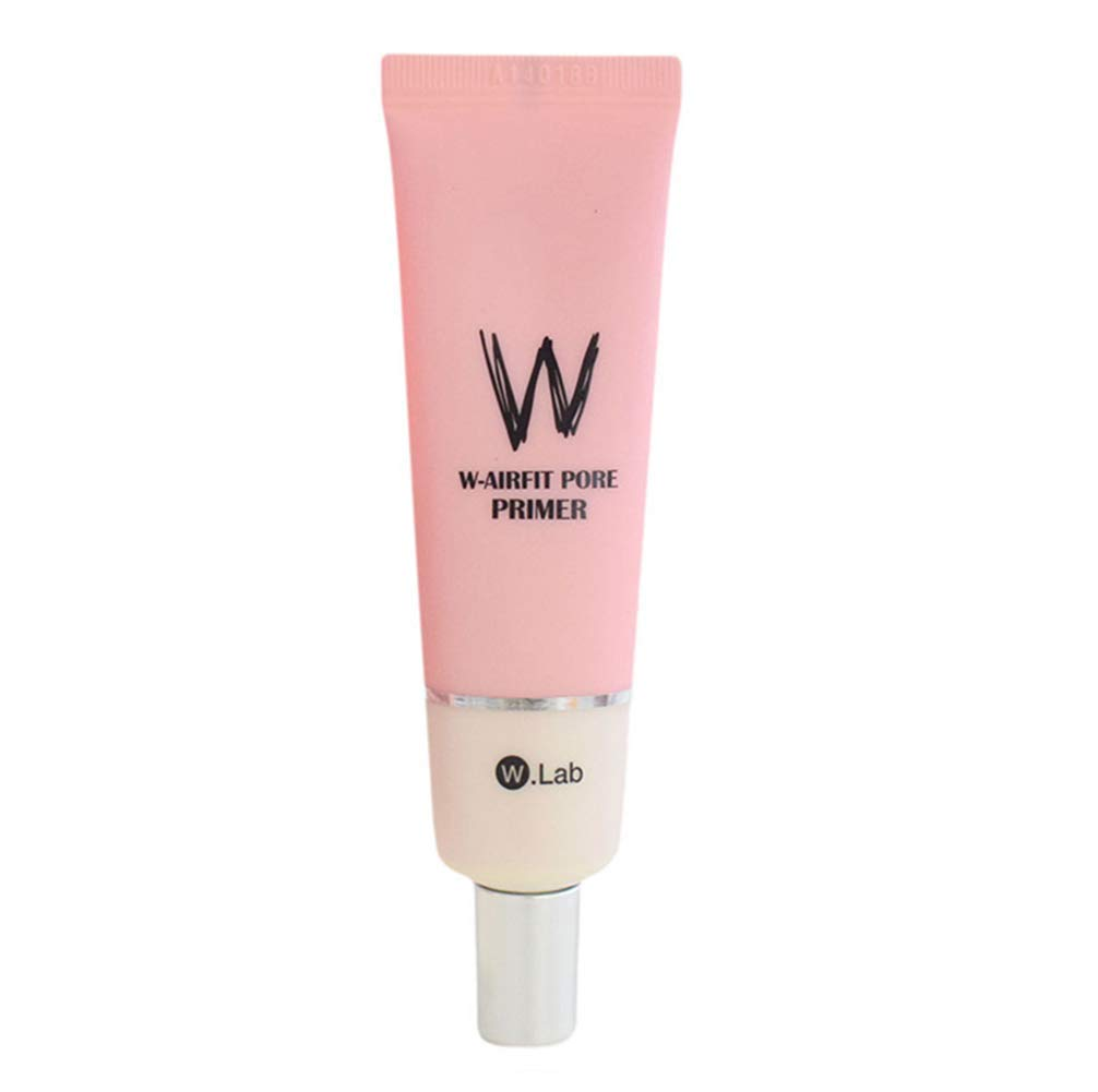 W-Airfit Pore Primer Face Makeup Base Pink Isolation Cream Invisible Pore,Cover Acne Marks,Smooth Skin,Oil Control Moisturizing Essence Concealer Foundation