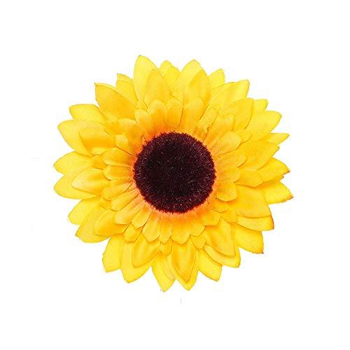 Kewl Fashion Women's Bohemia Sunflower Hairpin Hair Clip Flower Brooch (Big Yellow)