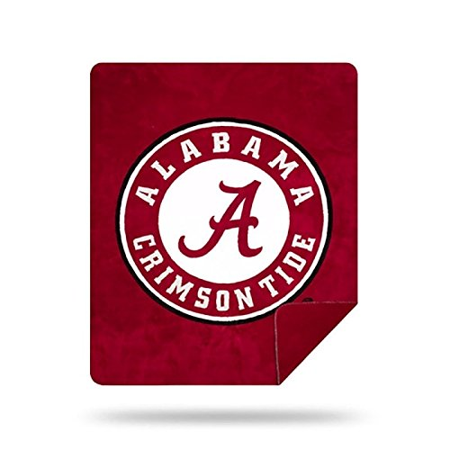 Officially Licensed NCAA Alabama Crimson Tide Denali Silver Knit Throw Blanket, Red, 60