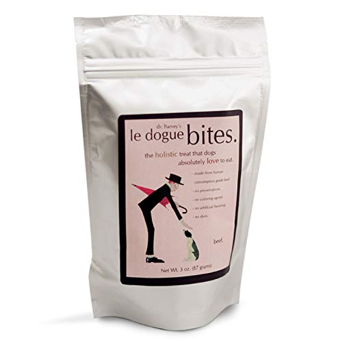 Dr. Harvey's Le Dogue Bites - Freeze-Dried Single Ingredient Treats for Dogs, Beef (3 Ounces)