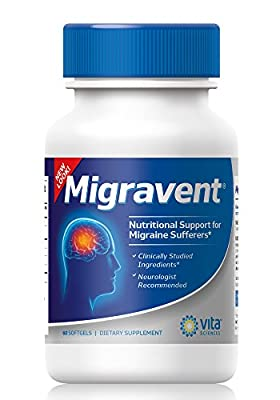 Advanced Powerful Migraine Relief Formula | Neurologists & Doctor Recommended | All Natural | Migravent | Natural Supplement Migraine Migravent Proprietary Remedy | Vita Sciences | 60 Caps