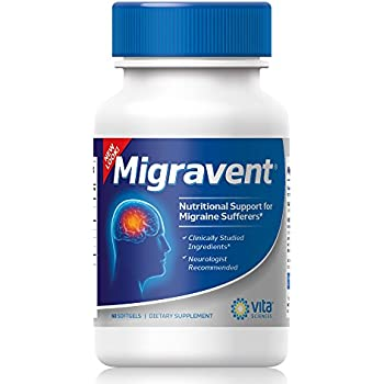 Advanced Powerful Migraine Relief | Neurologists & Doctor Recommended | All Natural | Migravent | Natural Supplement Migraine Migravent Proprietary Remedy | Vita Sciences | 60 Caps
