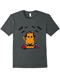 Gamer Cat T-Shirt Cute Ginger Cat Gaming Shirt