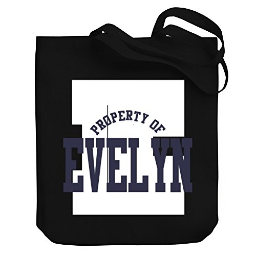 Teeburon Property of Evelyn Canvas Tote (Evelyn Tote)