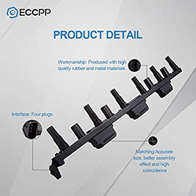 ECCPP Ignition Coil, Ignition Coil Packs Replacement Coils for Jeep Grand Cherokee 1999 Compatible with UF293: Automotive