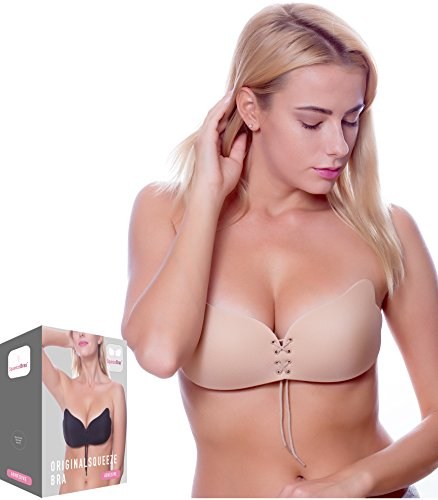 213cb02948 2018 Upgraded Version Strapless Backless Sticky Invisible Reusable Adhesive  Push-up Bra (C