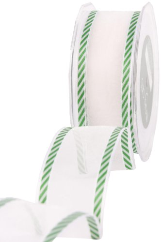 (May Arts 1-1/2-Inch Wide Ribbon, Red and White Candy Cane Stripes)