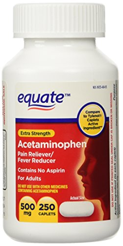 Equate Extra Strength Acetaminophen Twin-Pack 500mg, 500 tab