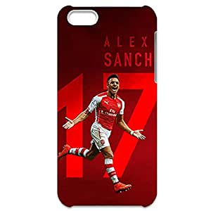 Arsenal Alexis Sanchez Collection Cool Football Club photo Hard Black Plastic Lifeproof Phone Cover for Iphone 5C