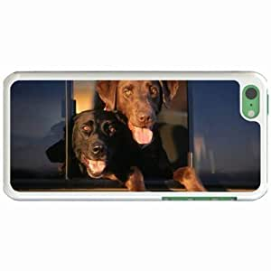 Custom Fashion Design Apple iPhone 5C Back Cover Case Personalized Customized Diy Gifts In Cab labs White