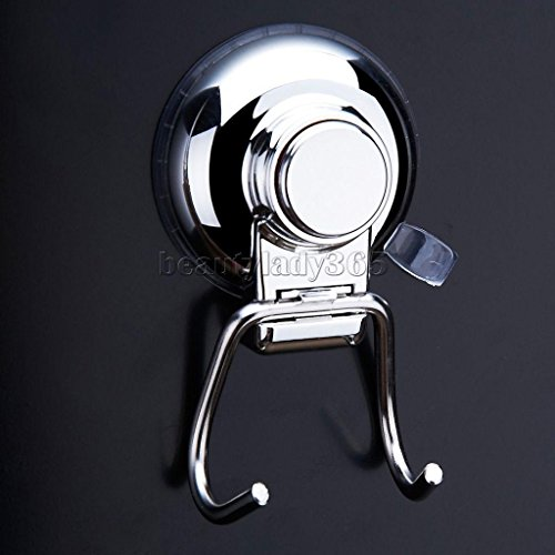 Stainless Steel Vacuum Button Suction Cup Hook for Home Bathroom Kitchen (Wicker Bookshelves)