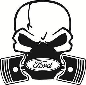 (YWS Vinyl Stickers Decals - Ford Skull Piston Fiesta Mondeo Focus St - Stickers Laptop Car Truck Window Bumper Decor Notebook SMA4339)