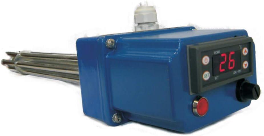 THERMIS TRG 31 Elemento calentador de Agua con Regulación Digital Varilla de calefacción para tanque de agua con termostato (2,4kW/1x230V G6/4)