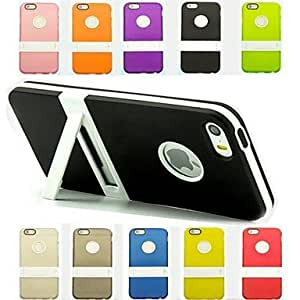 ZXSPACE iPhone 5/iPhone 5S compatible Mixed Color/Special Design/Novelty Case with Kickstand , White