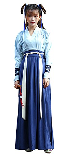 Plaid&Plain Women's Vintage Retro Party Swing Dress Pleated Skirts NavyBlue 4/6 - Chinese Fancy Dress Ideas