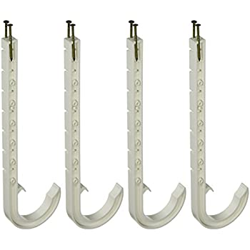 """Sioux Chief J Hook PVC Pipe Hangers   4/"""" DWV  #553-9WPK2  NEW"""