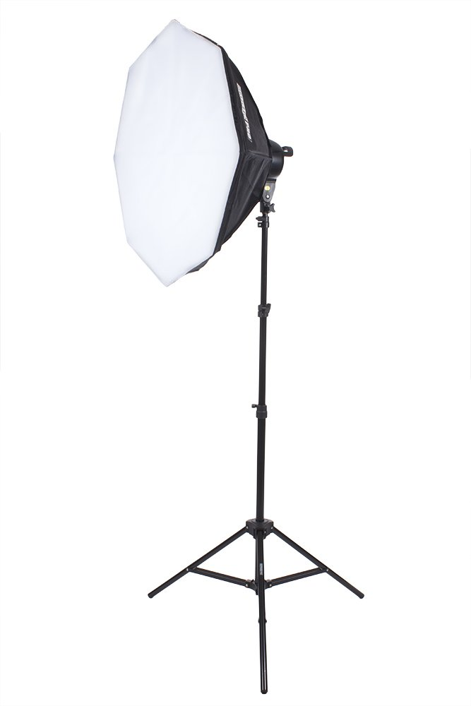 Fovitec StudioPRO Single 1000 Watt 32'' Octagon Softbox Continuous Output Lighting for Portrait Photography, Photo & Video Studio Shoots