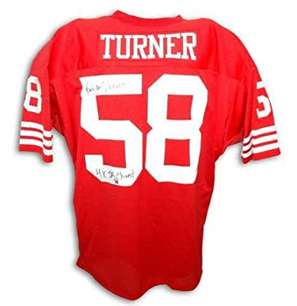 97737183f78 Autographed Keena Turner San Francisco 49Ers Red Throwback Jersey Inscribed  4X Sb Champs - 100%