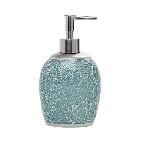Zenna Home, India Ink Number 9 Floral Lotion or Soap Dispenser, (Blue Soap Dispenser)