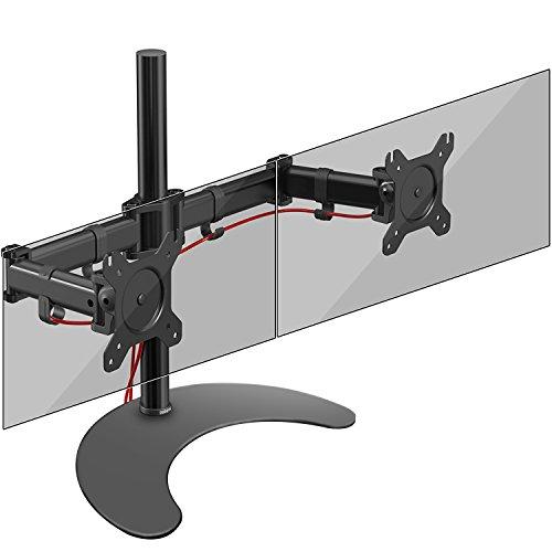 Duronic Steel DM25D2 Double Twin LCD LED Freestanding Desk Mount Monitor...