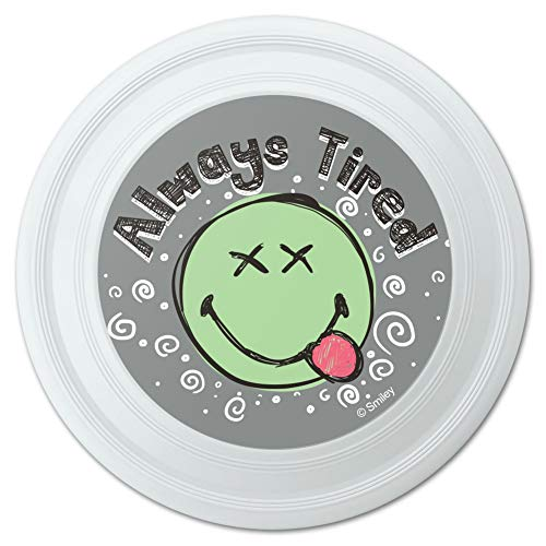 GRAPHICS & MORE Always Tired Dead Eyes Smiley Face Tongue Out Novelty 9