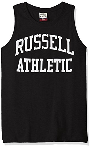 (Russell Athletic Heritage Men's Iconic Arch Tank Top, Black L )