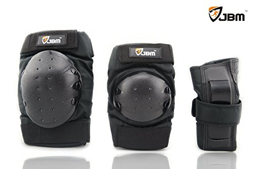 JBM Adult / Child Knee Pads Elbow Pads Wrist Guards 3 In 1 Protective Gear Set For Multi Sports Skateboarding
