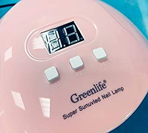 GreenLife 54W UV LED Nail Drying Lamp Nail Phototherapy Machine, Professional Fast Nail Curing Dryer Double Lights Source for Polish Gel Automatic Sensor Nail Art Tools for Manicure Pedicure (Color: Black)