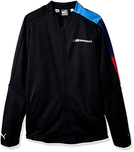 Puma Windbreaker Jacket - PUMA Men's Standard BMW Motorsport T7 Track Jacket, F Anthracite, XS