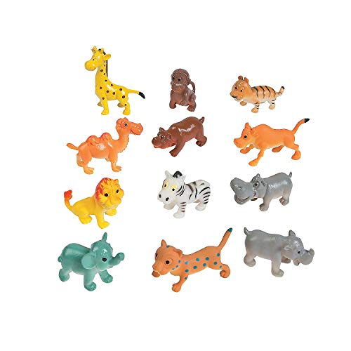 Fun Express Happy Zoo Animals | Great for Animal Themed Party, Science Lesson, Classroom Supplies, Birthday, Kids Bedroom Decor