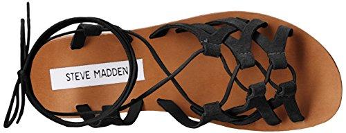 Steve Madden Womens Scarlett Dress Sandal Black Suede